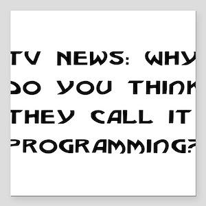 "programming01 Square Car Magnet 3"" x 3"""