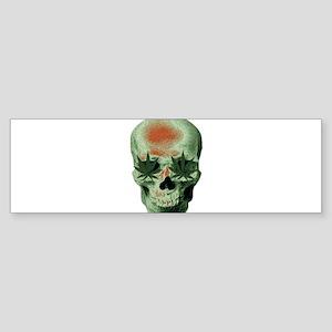 Stoner Skull Bumper Sticker
