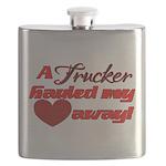 Trucker Hauled My Heart Away Flask