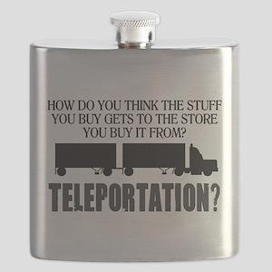 Teleportation Truck Driver Flask