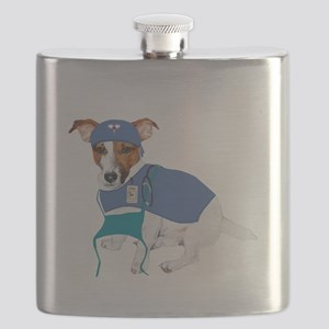 JRT Humor Doctor Dog Flask