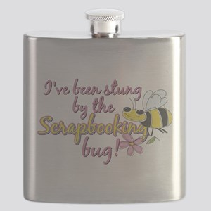 Scrapbooking Bug Flask