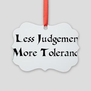 tolerance01a Picture Ornament