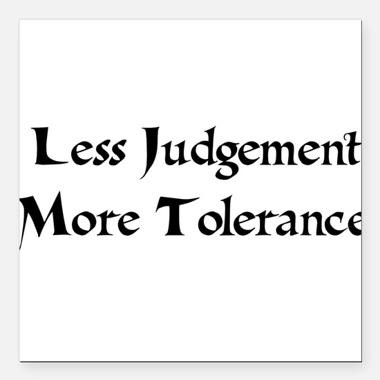 "tolerance01a.png Square Car Magnet 3"" x 3"""