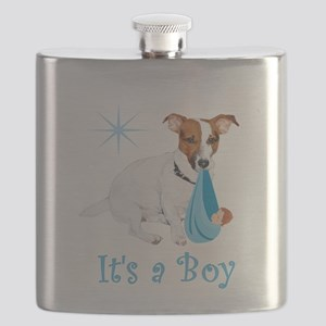 Jack Russell, It's A Boy Gifts Flask