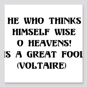 """wisefool01 Square Car Magnet 3"""" x 3"""""""