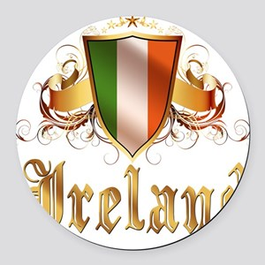 ireland Round Car Magnet