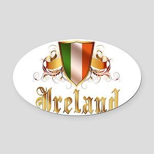 ireland Oval Car Magnet
