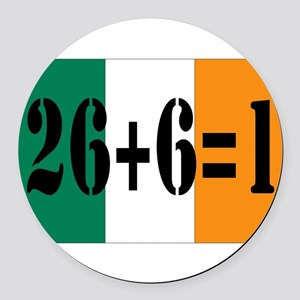 Irish pride Round Car Magnet