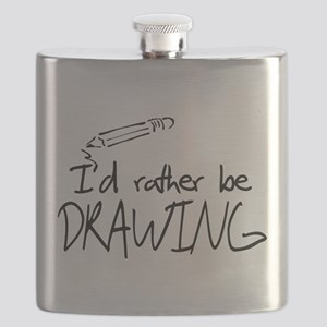 I'd Rather Be Drawing Flask