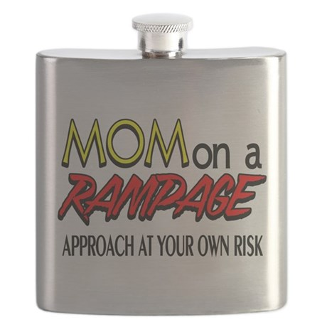 Mom on a rampage Flask