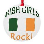 Irish girls rock (blk) T-Shirt.png Round Ornament
