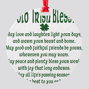 an old irish blessing Round Ornament