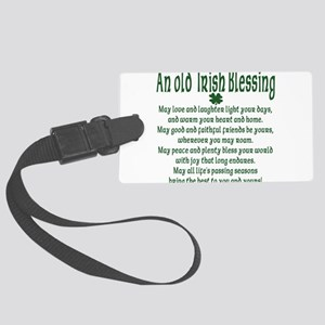 an old irish blessing Large Luggage Tag
