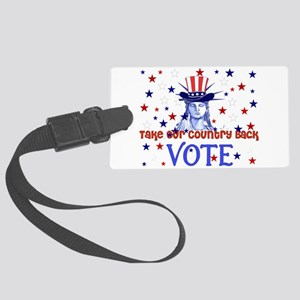 vote_election2008_03 Large Luggage Tag