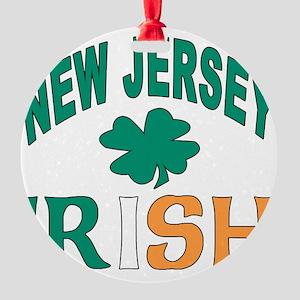 New jersey irish Round Ornament