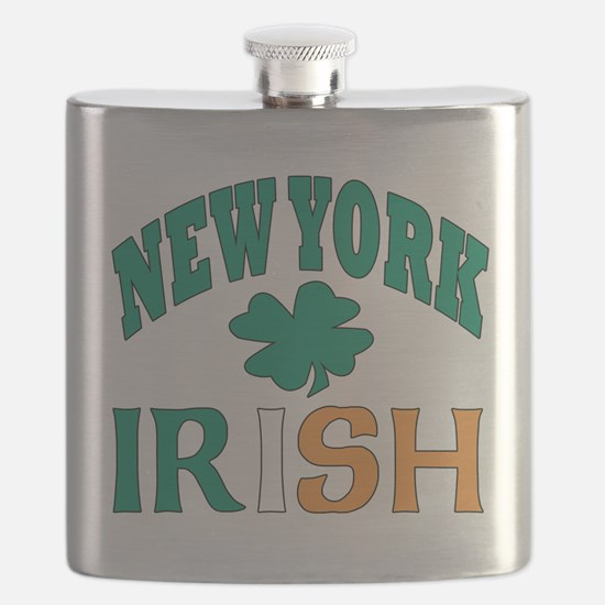 New York irish Flask