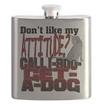 1-800-GET-A-DOG Flask