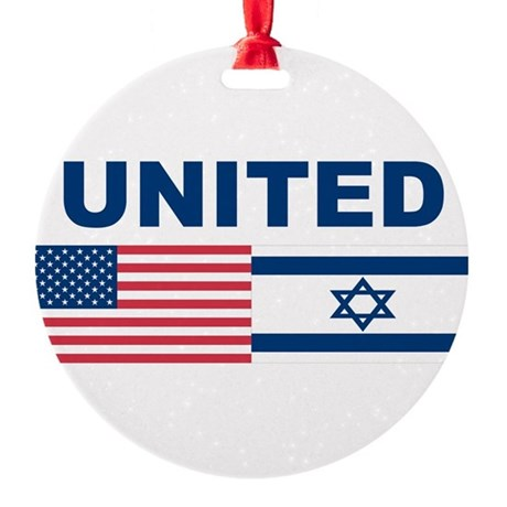 Support Isreal Round Ornament