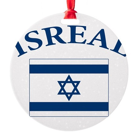 I love Isreal Round Ornament
