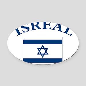 I love Isreal Oval Car Magnet