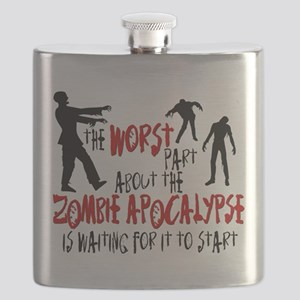 Zombie Apocalypse Waiting Flask
