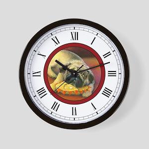 Pug Art Wall Clock