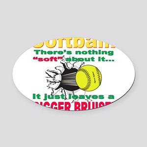 bigger bruise Oval Car Magnet