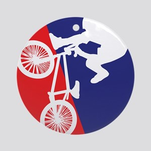 BMX Bike Rider Ornament (Round)