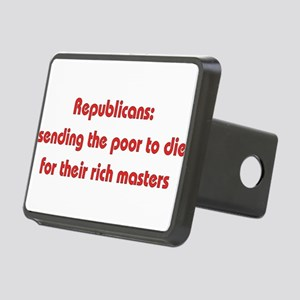 antiwar011 Rectangular Hitch Cover