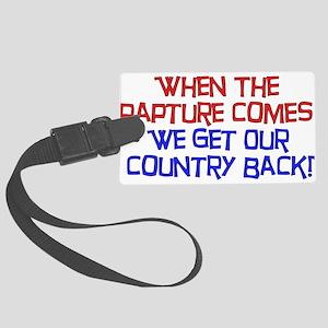 rapture01 Large Luggage Tag