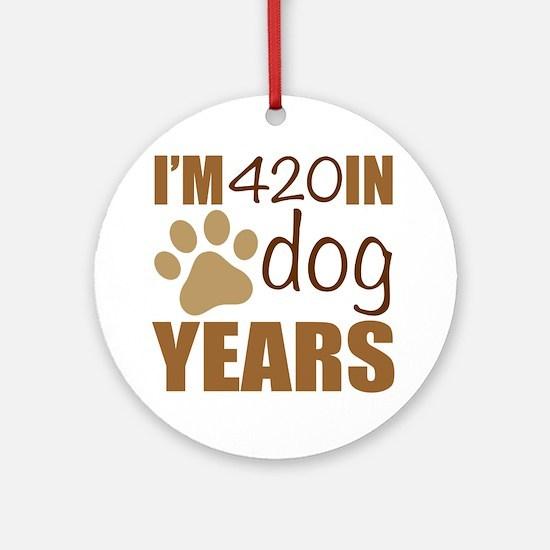 Unique Year dog Round Ornament