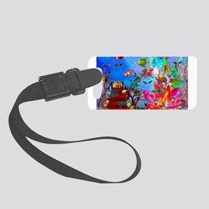 smposter_fishtank01 Small Luggage Tag