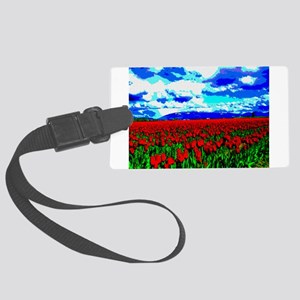 go_tulips_smposter01 Large Luggage Tag