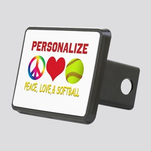 Girls Softball Rectangular Hitch Cover