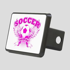 soccer MOM shield Rectangular Hitch Cover