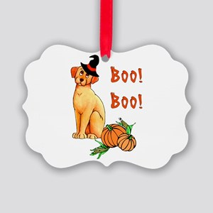 Halloween Puppy Dog Picture Ornament