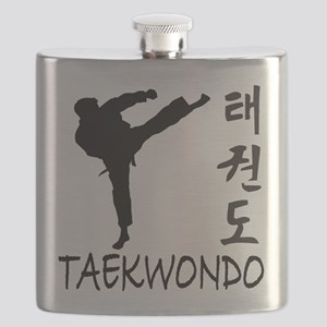 old tae kwon do(pink) Flask