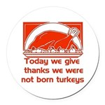 thanksgiving_prayer01 Round Car Magnet