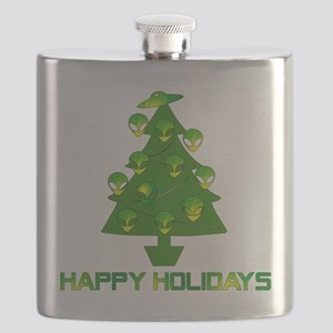 Alien Christmas Tree Flask