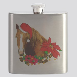 Christmas Horse Flask