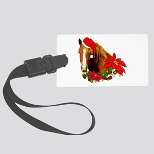 Christmas Horse Large Luggage Tag