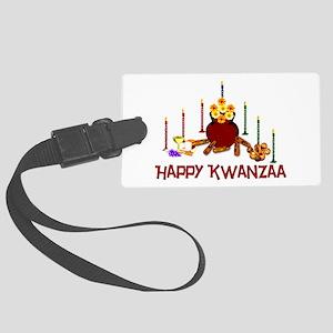 kwanzaa_greetings01 Large Luggage Tag