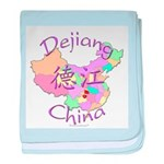 Dejiang China Map baby blanket