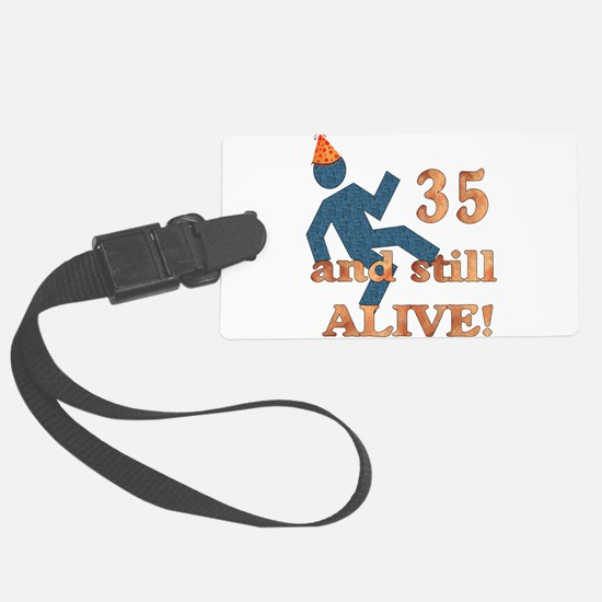 35th_birthday01.png Luggage Tag