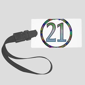 21st_birthday02 Large Luggage Tag