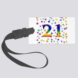 21stbirthday01 Large Luggage Tag