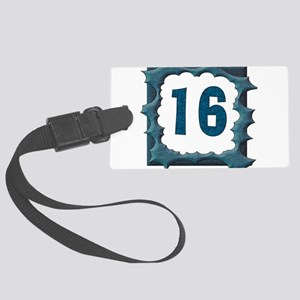 16th_birthday03 Large Luggage Tag