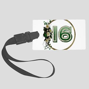 16thbirthday01 Large Luggage Tag
