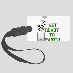 readytoparty01 Large Luggage Tag